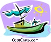Vector Clipart illustration  of a sailing ship