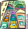 traffic congestion Vector Clip Art image