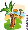Caribbean vacation Vector Clip Art picture
