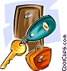 hotel keys Vector Clipart picture