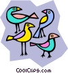exotic birds Vector Clipart picture
