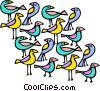 Vector Clipart graphic  of a exotic birds
