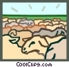 Vector Clip Art graphic  of a sheep concept