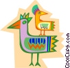 Vector Clipart image  of a exotic birds