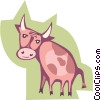 cow Vector Clipart graphic