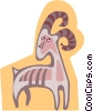 Vector Clip Art picture  of an antelope