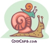 Vector Clipart image  of a snails