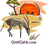 Vector Clip Art graphic  of an antelope