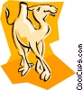 Vector Clipart image  of a camel