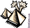 Vector Clipart picture  of a pyramid
