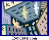 Vector Clipart graphic  of a city scape