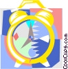 Vector Clip Art image  of a clock