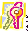 keys Vector Clipart graphic