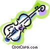 Vector Clip Art picture  of a violin