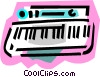 Vector Clip Art image  of a keyboards