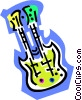 Vector Clipart graphic  of a double guitar