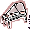 Vector Clip Art graphic  of a piano