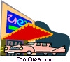 Vector Clip Art image  of a fancy hotel