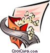 popcorn with film motif Vector Clipart illustration