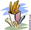 Vector Clip Art graphic  of a concept - fast food in a fast