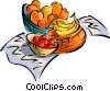 fruit basket Vector Clipart picture