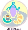 tea time Vector Clipart illustration