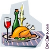 candle-light dinner Vector Clip Art image