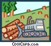 Vector Clipart image  of a deforestation