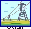 Vector Clipart picture  of a electric towers