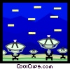 satellites Vector Clipart picture
