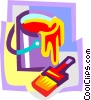 Vector Clip Art image  of a paint and brush