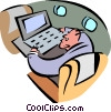 business travel and technology Vector Clipart picture