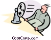cooling down Vector Clip Art picture