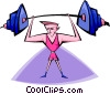 Vector Clipart graphic  of a weight lifting