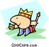 cartoon royalty Vector Clipart illustration