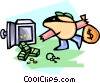Vector Clip Art graphic  of a cartoon robber