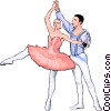 ballet Vector Clipart graphic