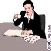Vector Clip Art graphic  of a businesswoman