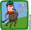 Vector Clipart picture  of a music/Scottish