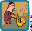 Vector Clipart illustration  of a music/jazz