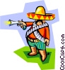 Vector Clip Art image  of a old world Mexico