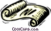 Vector Clip Art graphic  of a scrolls