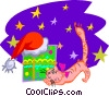Vector Clipart picture  of a Christmas