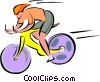 cyclist Vector Clipart picture