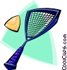 Vector Clip Art picture  of a racket sports