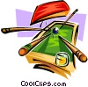 Vector Clipart picture  of a Billiards motif