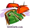 Billiards motif Vector Clipart illustration
