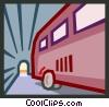 bus in a tunnel Vector Clipart illustration
