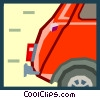 tail end of an mini car Vector Clipart illustration