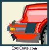 Vector Clipart image  of a front end of a sports car